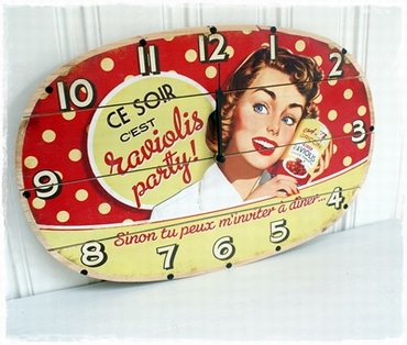 BACK TO THE FIFTIES Klok! 45 X 30 Cm.