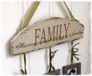 Brocante Lijst Met Fotolijstjes Family