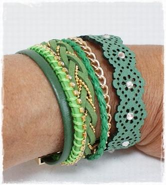 Armband Groen
