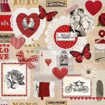20 Servetten Love