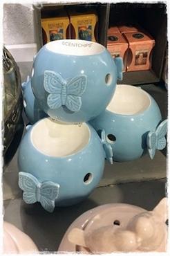 Blauwe Brander Met Vlinders, Scentchips