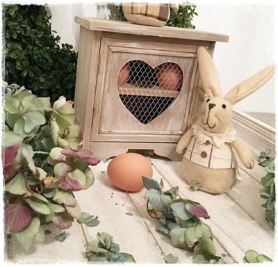 Brocant Oude Look Nostalgisch Eierenkastje Met Gaasdeurtje Hartvorm