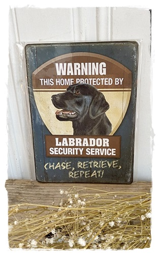 Houten Bordje, Warning, This Home Is Protected By.