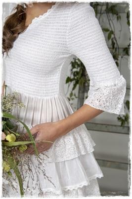 SALE! Dress Joyous Past, White L En XL Verkrijgbaar. JDL