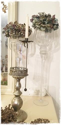 JDL Candle Holder, Kandelaartje Hanging, Dark Vintage, 23,5 Cm. Hoog X 6,5 Cm. Diameter.