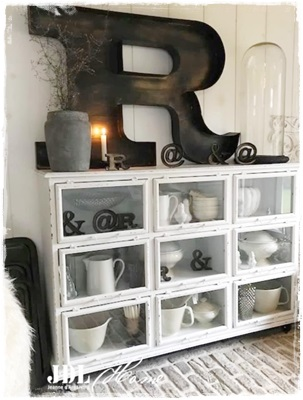 Collectie JDL. Superstoere Grote Industrie Letter R (1 Meter X 65 Cm.)