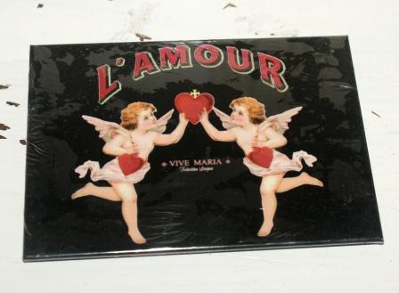 Magneet, De Liefde Lamour 6 X 8 Cm.